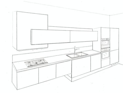 Cucine risparmio pi for Disegno cucina