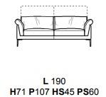 DIVANO 2POSTI L190CM (P107CM H71/96CM)