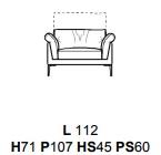 POLTRONA L112CM (P107CM H71/96CM)